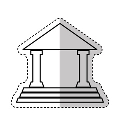 House court isolated icon vector