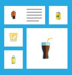 Flat icon beverage set of drink lemonade vector