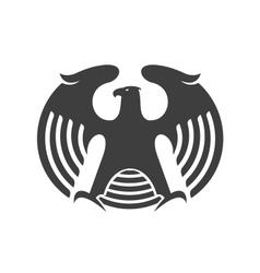 Eagle heraldic silhouette vector image