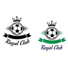 Royal football or soccer club symbol vector