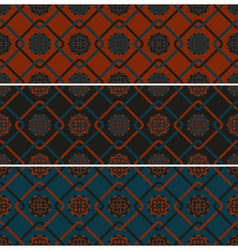 3 seamless patterns vector image