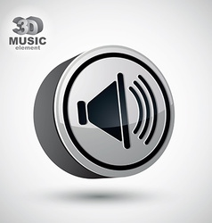 Loudspeaker icon 3d design element vector
