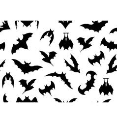 Seamless bats background vector