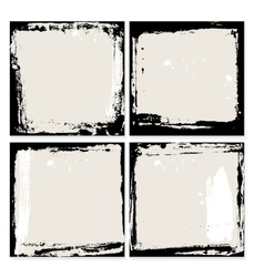 Abstract grunge frame set black and beige vector