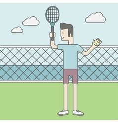 Tennis player man vector