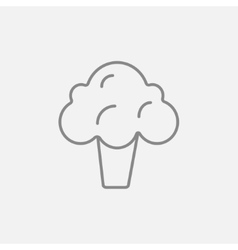 Broccoli line icon vector