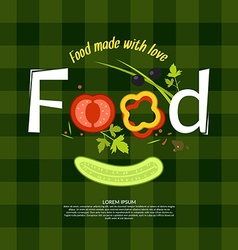 Food for design website infographic poster ad vector