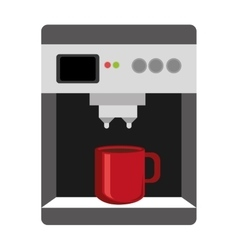 Colorful electronic coffee maker graphic vector
