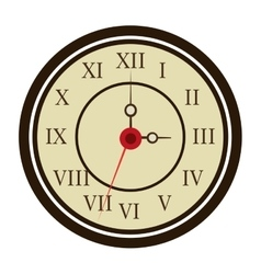 Colorful old clock graphic vector