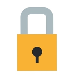 Safety lock icon vector