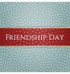 Friendship day red greeting ribbon vector