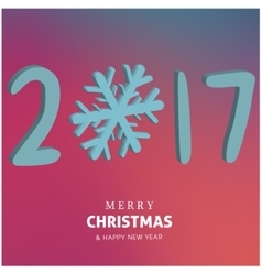 Happy holidays Merry Christmas and Happy new year vector image