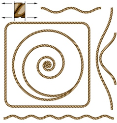 abstract beige rope vector image vector image
