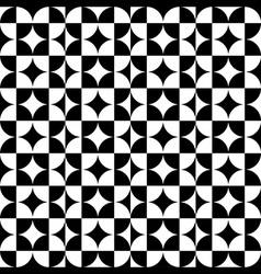 Abstract Circle Square Pattern Black vector image vector image