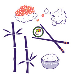 Asian cuisine traditional food culture vector