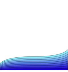 Background template from blue colored curves - vector