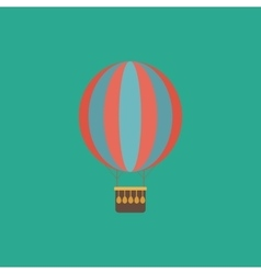 Balloon journey web icon sign and button vector image vector image