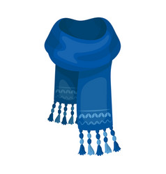 blue felt scarf with beautiful patternsscarves vector image vector image