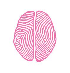 Brain with fingerprint vector