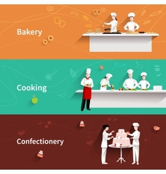 Cooking horizontal banners vector