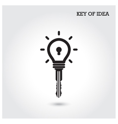 Creative light bulb idea concept with padlock vector