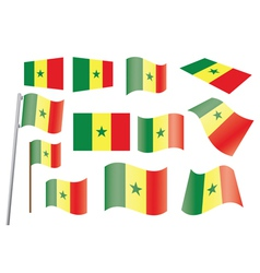 flag of Senegal vector image vector image