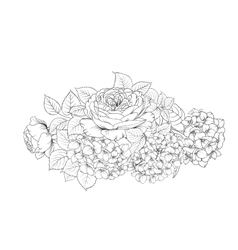Floral garland isolated vector image