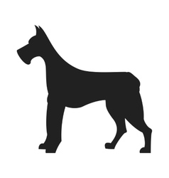 Great Dane Black Silhouette vector image
