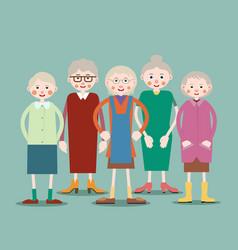 group of elderly women vector image vector image