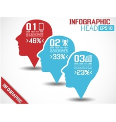 Infographic head red vector