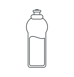 Isolated water bottle design vector