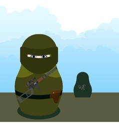 Matryoshka SWAT sniper vector image vector image