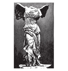 Nike was a sculpture of the goddess of victory vector