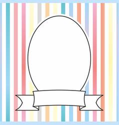Photo frame on pastel stripes background vector