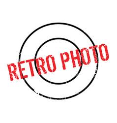 Retro photo rubber stamp vector