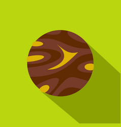 Round planet icon flat style vector