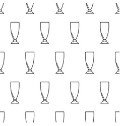 seamless pattern from cocktail glass black vector image