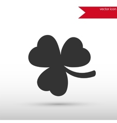 Shamrock Icon Clover icon vector image