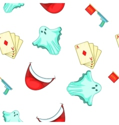 Fun and jokes pattern cartoon style vector