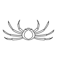 Spider crab icon outline style vector