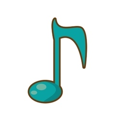 Cartoon note musical melody sound vector
