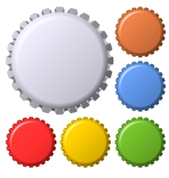 Vintage bottle caps vector