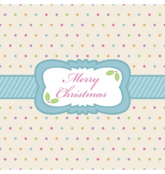 polka dot Christmas vector image