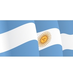 Background with waving argentine flag vector