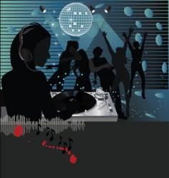 Dj club scene vector