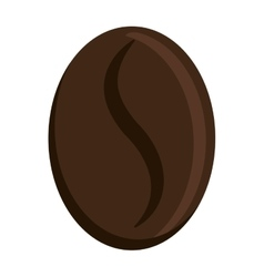 Dark brown coffee bean graphic vector
