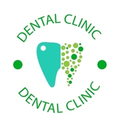 Dentist symbols badge vector image