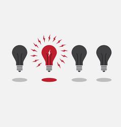 abstract flat design lightbulbs eureka concept vector image vector image