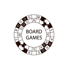 Circle logo board game vector