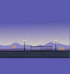 collection of hill scenery flat vector image